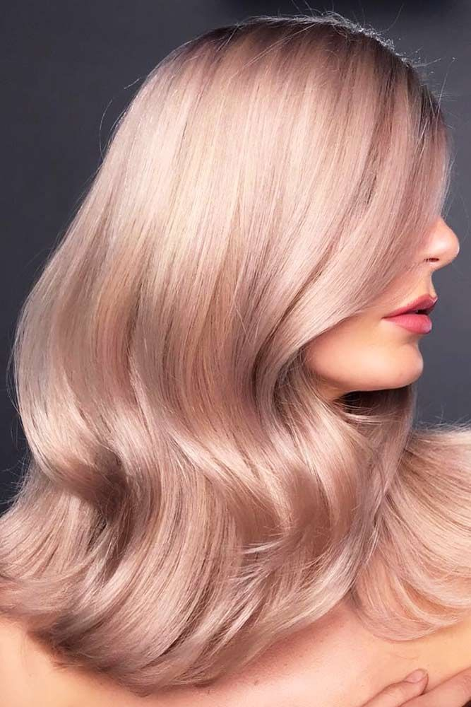 Accentuating Pale Light Pink For Blondes #pinkhair #wavyhair ❤️ Want to get ...