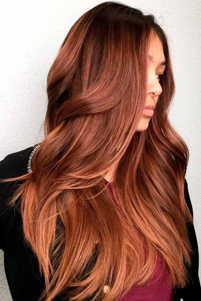Auburn Hair With Caramel Highlights � An auburn hair color is the most popular...