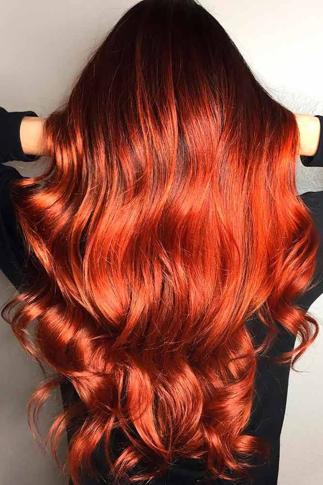 Black to Auburn Hair ❤️ An auburn hair color is the trend of 2018. Are you l...