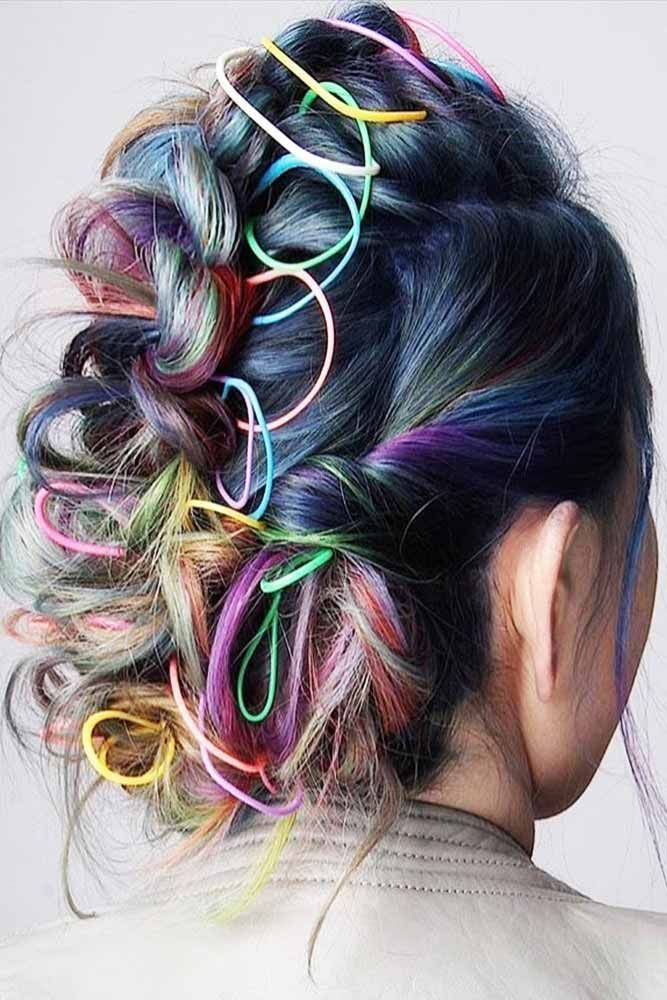 Bright Colorful Hairstyles Updo #fauxhawk #updo ❤️ Are you excited about the...
