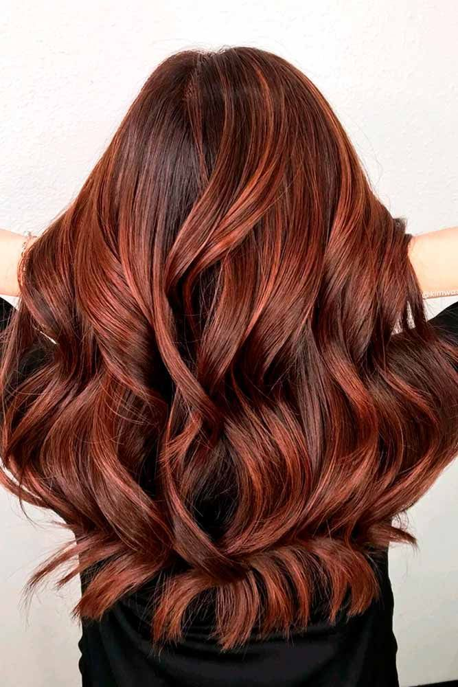 Brown Hair With Auburn Highlights ❤️ An auburn hair color is the trend of 20...
