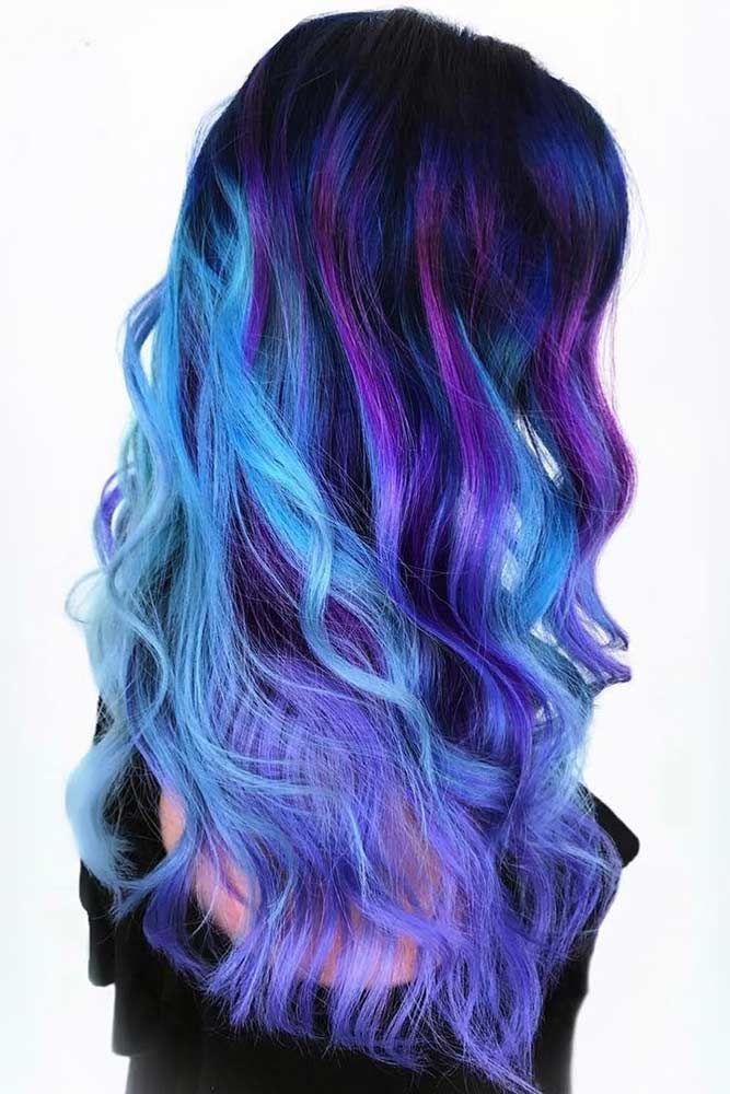 Home Care of an Oil Slick Hair Color Brunette #ombre #brunette #longhair #wavyha...