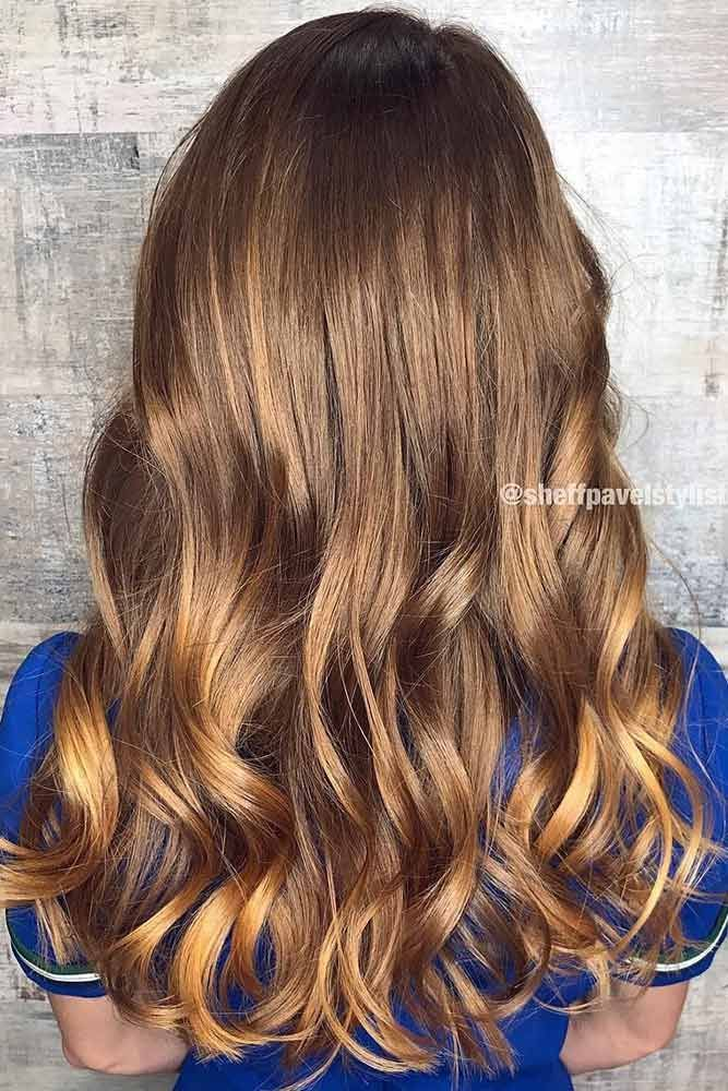 Long Brown Highlighted Hair #longhair #sleekhair #brownhair ❤️ Highlighted h...