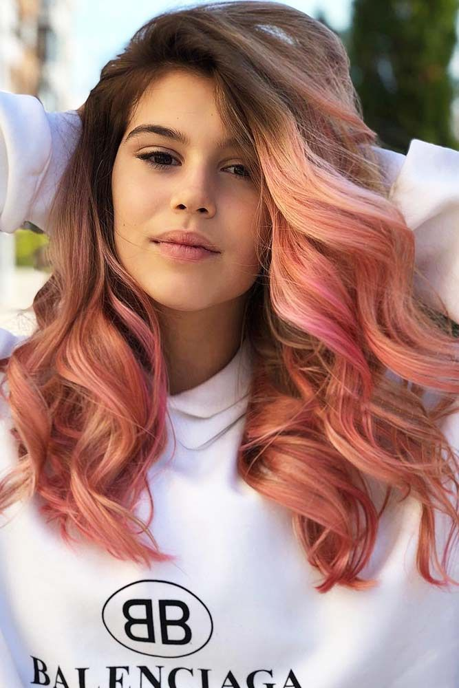 Rose Gold Ombre #longhair #wavyhair #rosegoldhair ❤️ Summer hair colors 2018...