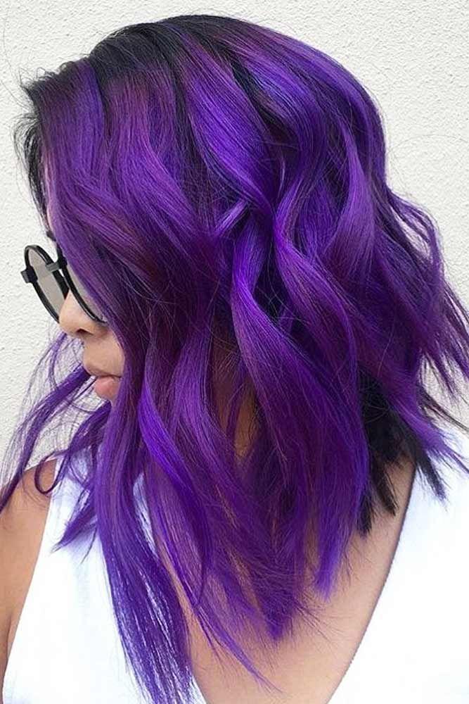 Hair Color 2017 2018 Saturated Dark Purple Shade