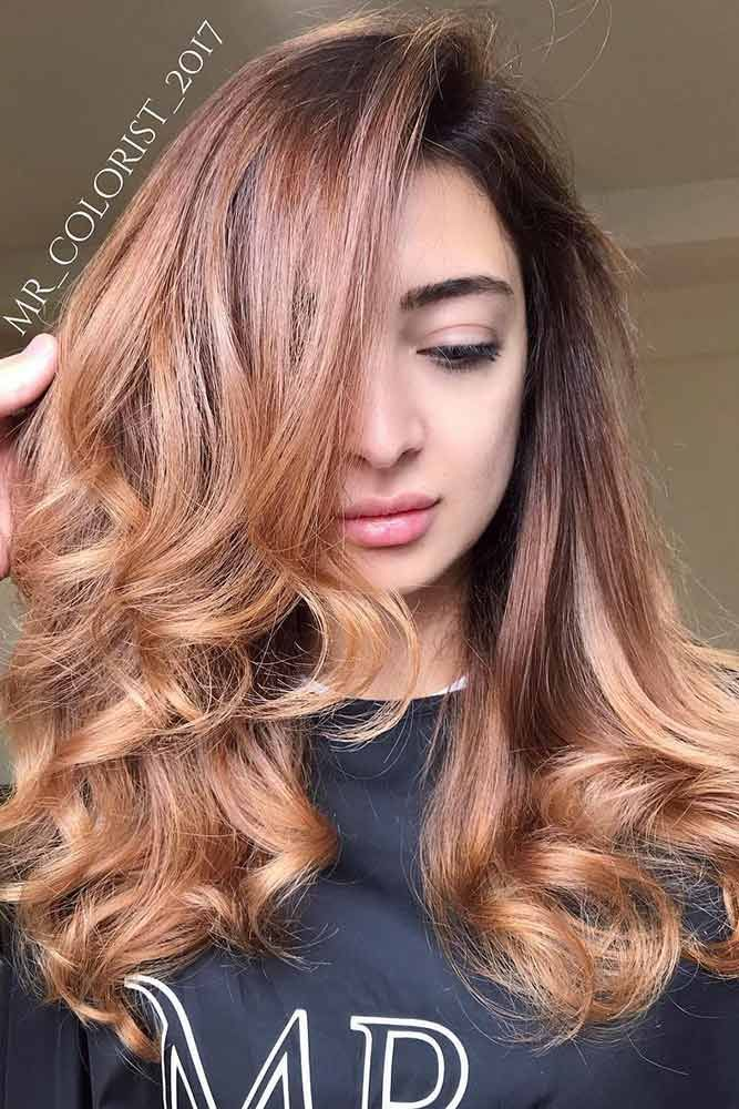 Hair Color 2017 2018 Strawberry Blonde Highlights On Black Hair