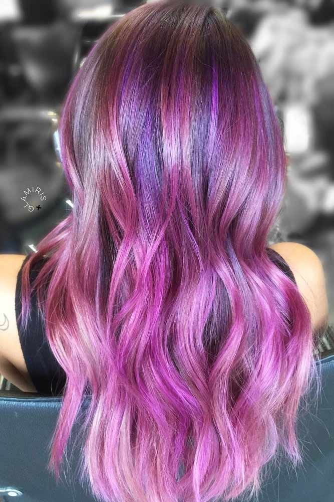 The Brighter Highlights You Wear The Better #purplehighlights #highlights #hairc...