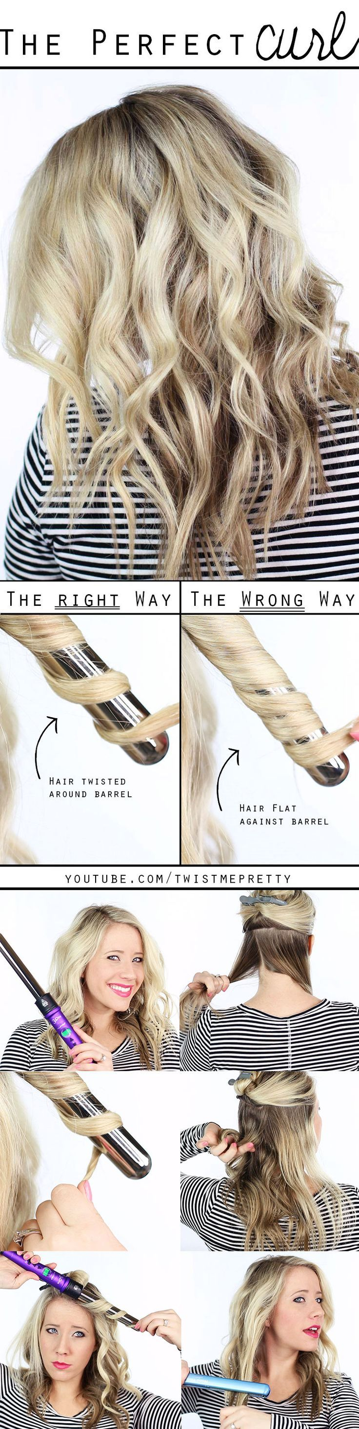 The perfect curl -- a must see video with heat styling advice, how to wrap the c...
