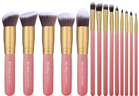 14 pc Kabuki Makeup Brush Set Cosmetics Beauty Foundation Blending Contouring Mu...