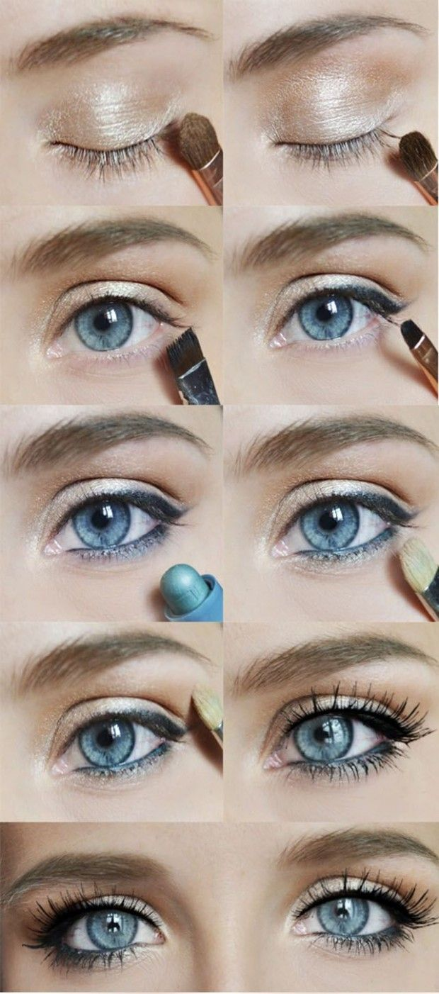 20 Gorgeous Makeup Ideas for Blue Eyes - except that I have brown... But I bet t...