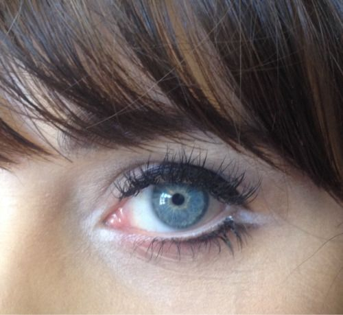 A close up of Zooey Deschanel's eye from makeup artist Jorjee Douglass's...