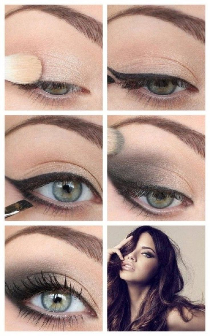 Adriana Lima Eye Makeup Tutorial - 12 Party Perfect Beauty Tutorials That'll...