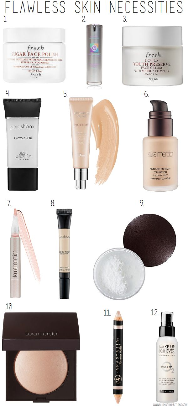BLONDER AMBITIONS FLAWLESS SKIN NECESSITIES. foundation. skin. dewy. makeup. cle...