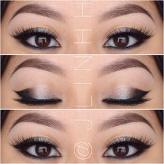 Cat eye makeup for Asian eyes, might look better than traditional cat eye.