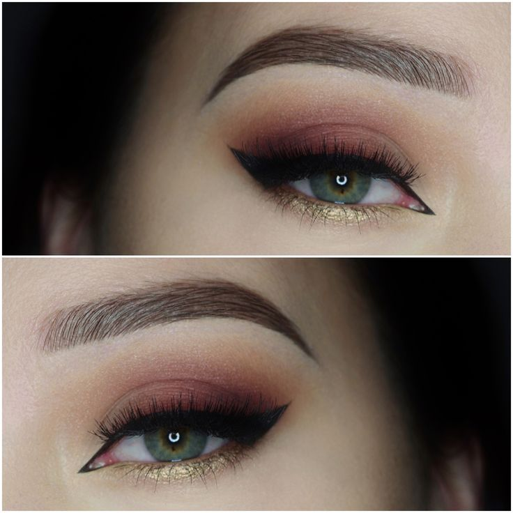 Check out our favorite burgundy and gold inspired makeup look. Embrace your cosm...