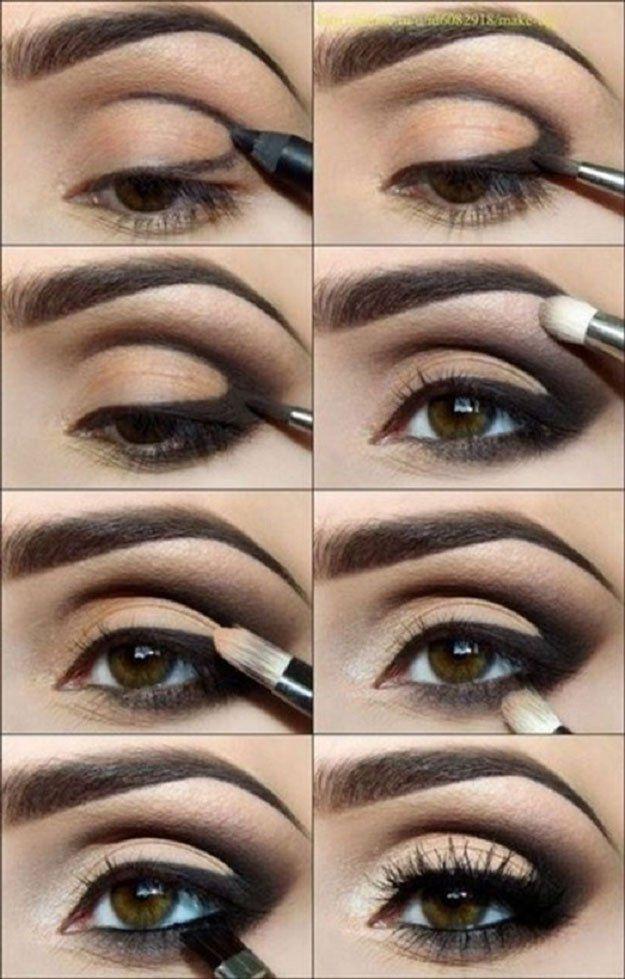 Classic Black Eyeshadow Tutorial For Beginners   12 Colorful Eyeshadow Tutorials...