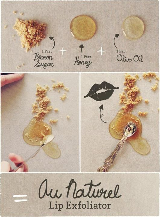 DIY Homemade Brown Sugar & Honey Lip Scrub