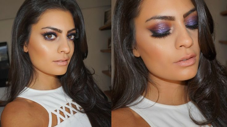 Hi beauties! Here's a purple smokey eye makeup tutorial for brown eyes (or gre...
