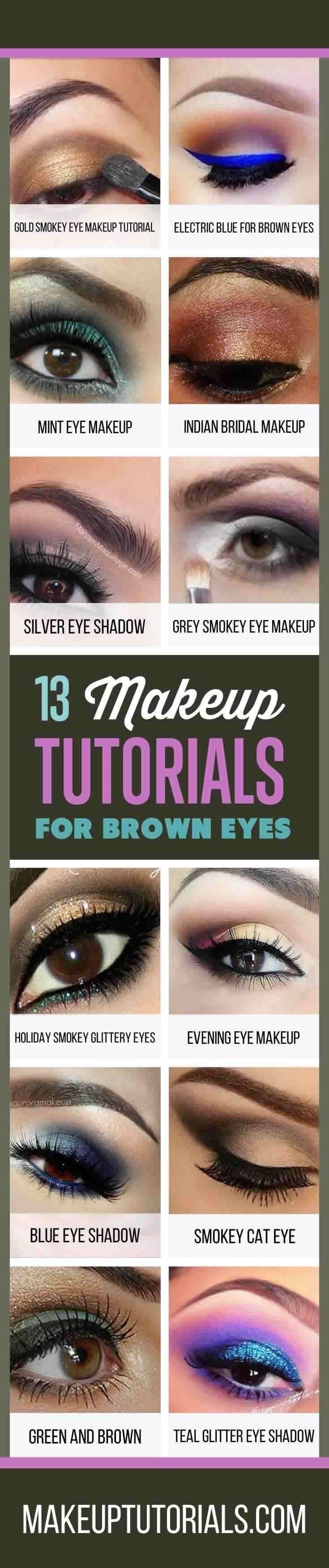 How To Do Awesome Makeup Tutorials For Brown Eyes | Cool Makeup Ideas and Easy D...
