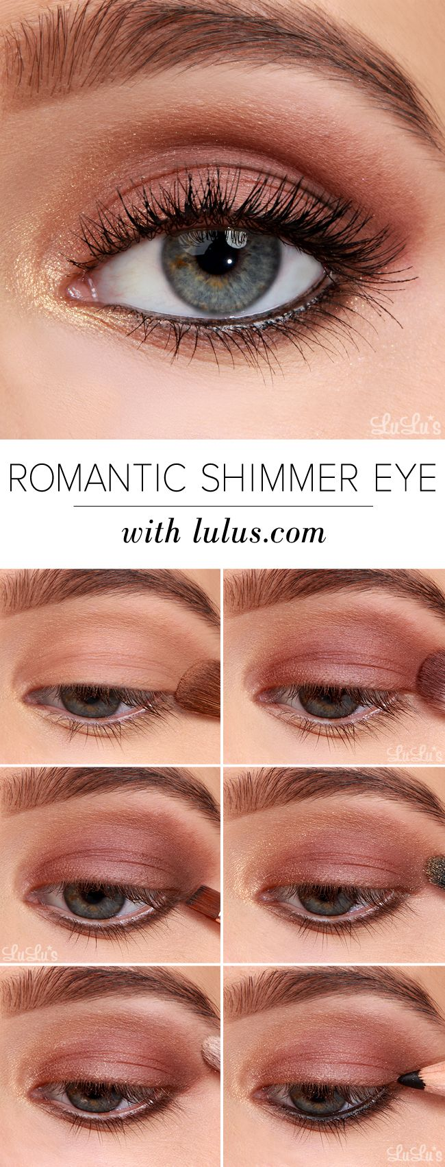 How-To: Romantic Shimmer Eyeshadow Tutorial