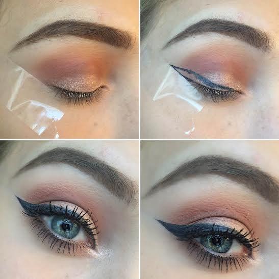 How to do eyeliner using tape