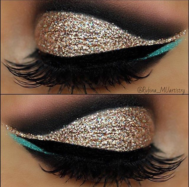 Iced out ❄️@rubina_muartistry sharing this show-stopper of a look using the ...