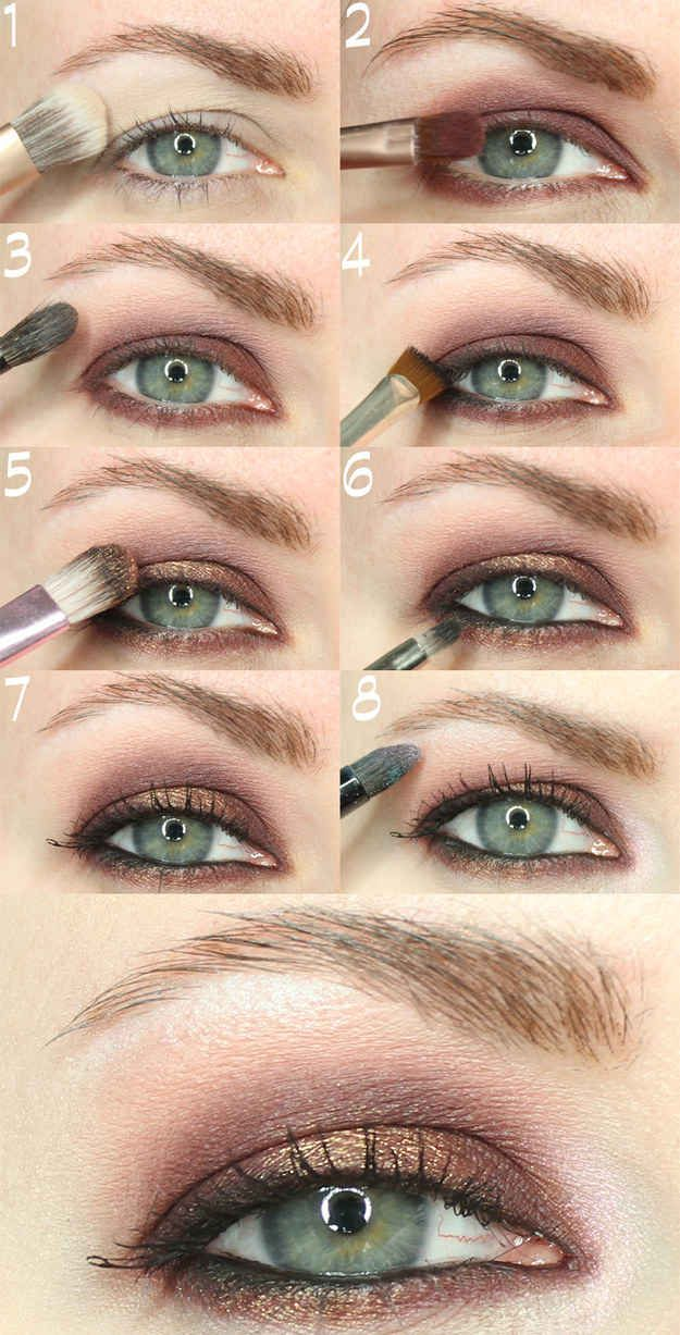 It's best to apply makeup with your eyes open, because it can be hard to find ...