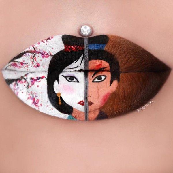 Jazmina Daniel, amazing lip art - ego-alterego.com