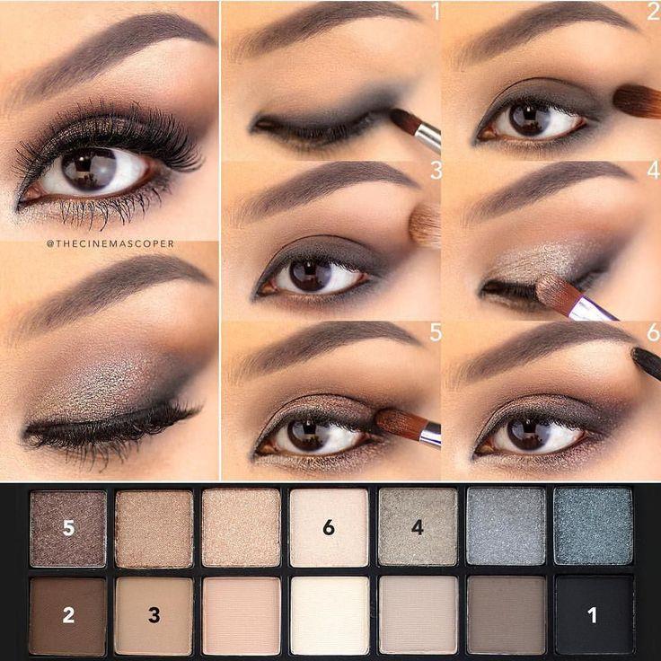 Kate V Steps for sparkly smokey eyes using #smashboxcosmetics Full Exposure pale...