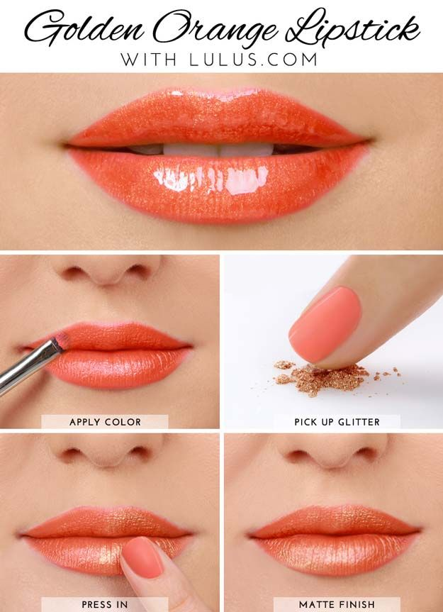 Lipstick Tutorials - Best Step by Step Makeup Tutorial How To - Lulus How-To Gol...