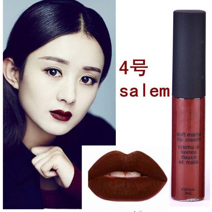 Maquiagem Brand Soft Matte Lip Cream Lip Gloss 12 Colors Red Velvet Waterproof L...