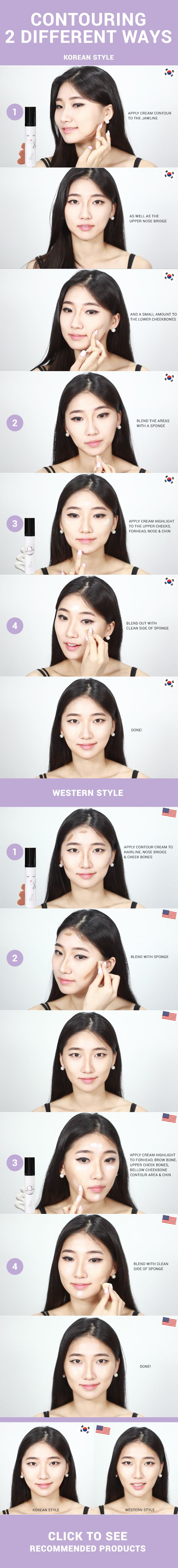 Most of us are familiar with Western style makeup contouring, but it doesn't...