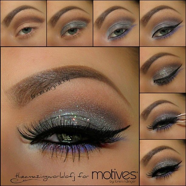 Pictorial Great silver sparkles and lashes! New Years is around the corner again...