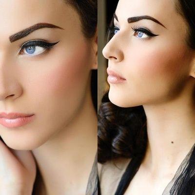 Pin up retro makeup eye liner