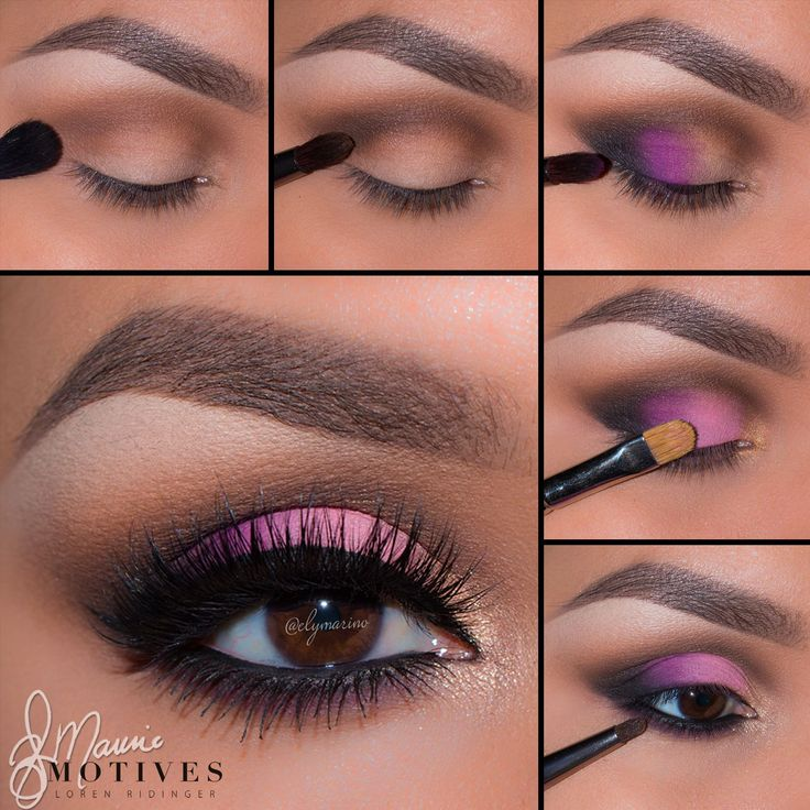 Pink Eye Shadow Tutorial All Motives Cosmetics are available at www.MotivesCosme...