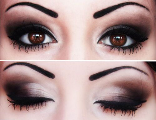 Play up your eye color and learn what shadow shades are best for brown eyes with...