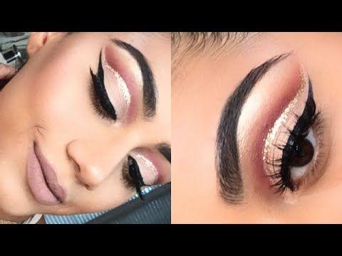 Sunset Cut Crease & Copper Glitter   ABH Modern Renaissance - YouTube