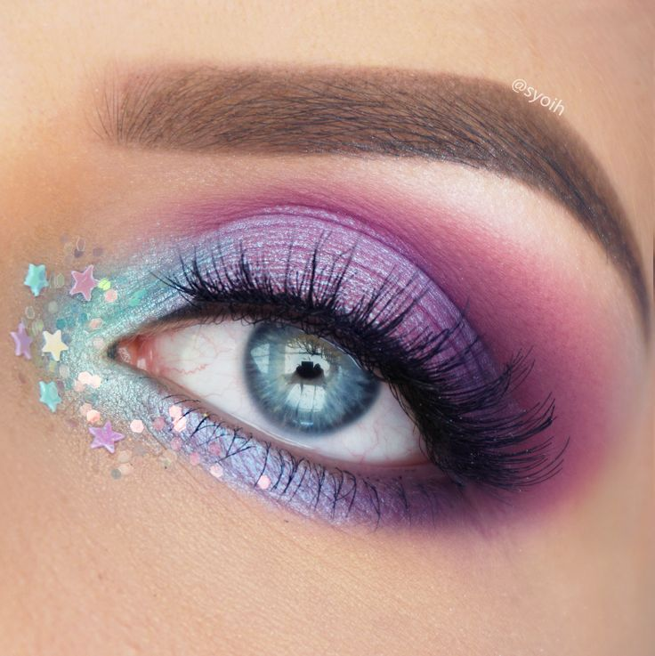 To create this colorful look I first went in with Makeupgeek eyeshadows Curfew, ...