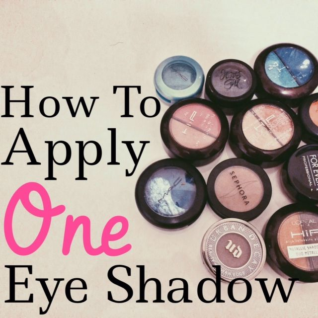 {Video Tutorial} Makeup For Beginners: How to Apply One Eye Shadow