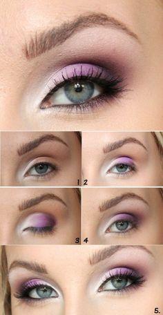 eye makeup, steps, wow, pretty, pink, smokey eyes, beautiful