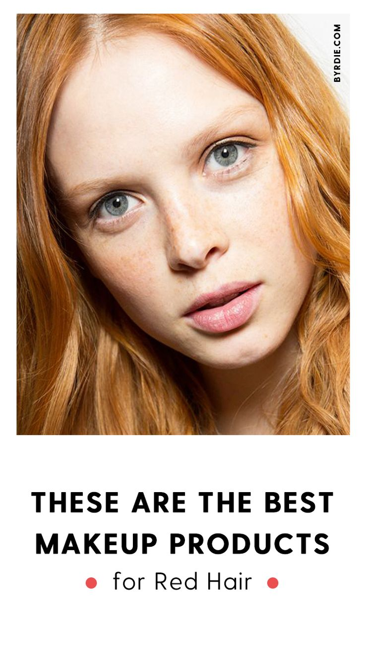 The best makeup products for red hair.