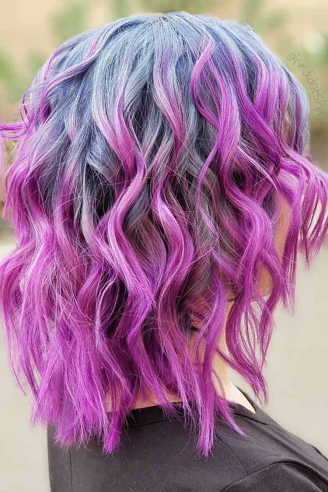 All The Cute Purple Highlights Rolled Into One #purplehighlights #highlights #ha...