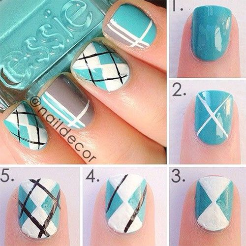 15 + Easy & Step By Step New Nail Art Tutorials For Beginners & Learners 2014 | ...