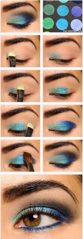 Blue Eyeshadow | Eyeshadow Tutorials for Brown Eyes -  | How To Make Eyes Look S...