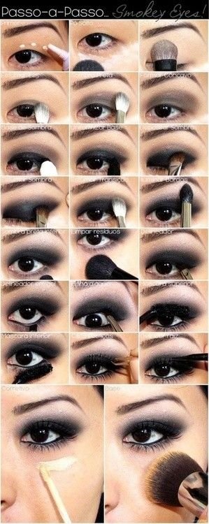 DIY smokey eyes