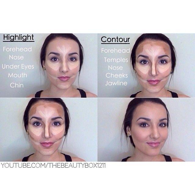 How To Contour & Highlight for Beginners. AMAZING!!!! #contourandhighlight