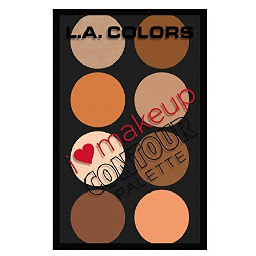 L.A. Colors Highlighting I Heart Makeup Contour Medium Highliting Makeup Palette