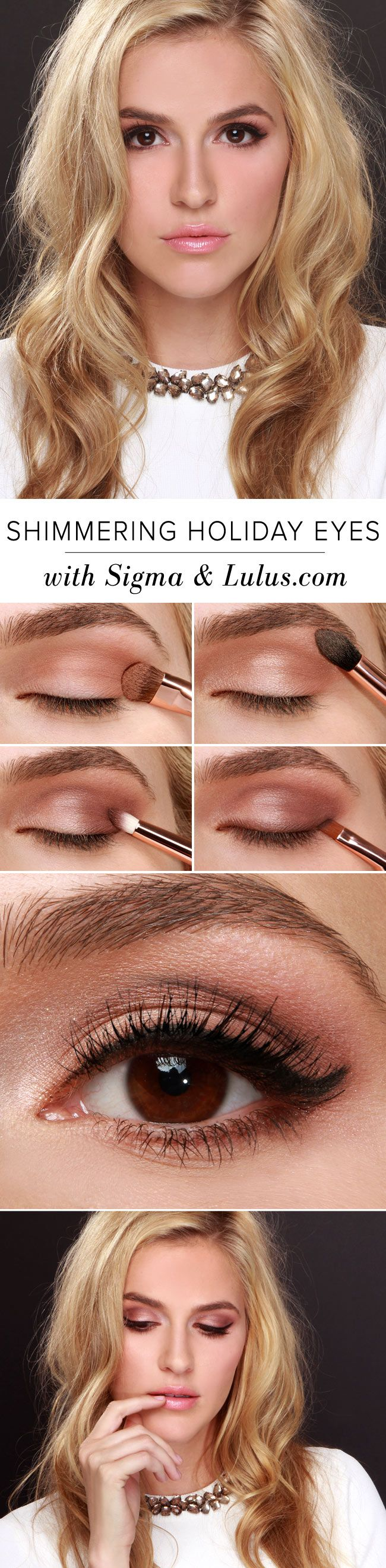 LuLu*s How-to: Shimmering Holiday Eyes with Sigma Beauty & Lulus.com at LuLus.co...