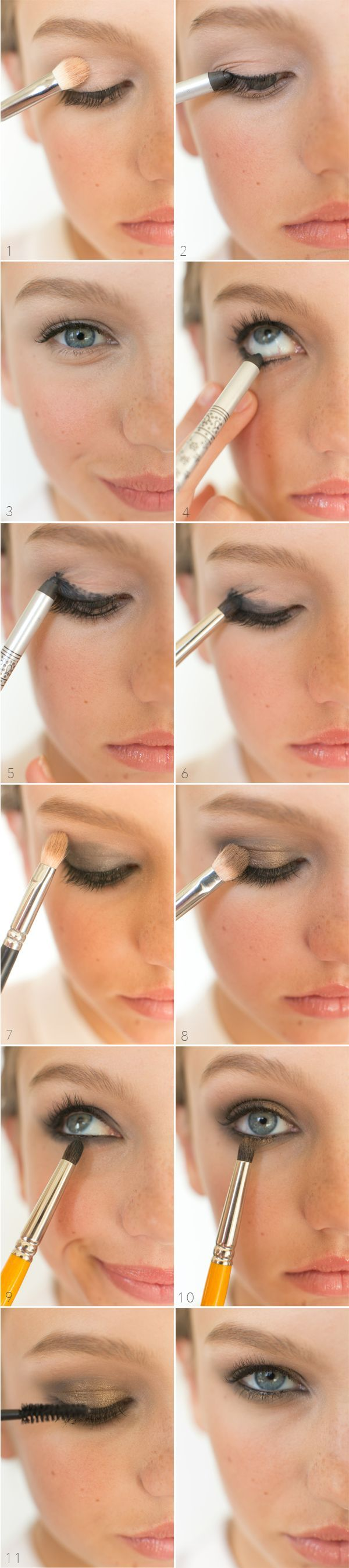 MAKEUP / HOW TO // EYES /// smoldering smokey eye with a hint of gold