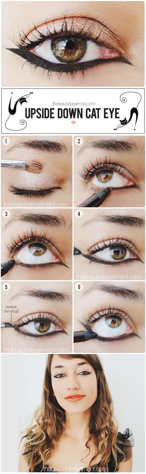 Makeup Tutorials: 17 Great Eyeliner Hacks. Quick and easy DIY tutorial for a per...